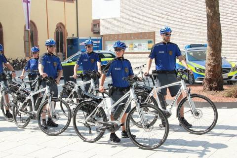 17.07.2015 Pedelecs für die Fahrradstaffel der Polizei in Stuttgart